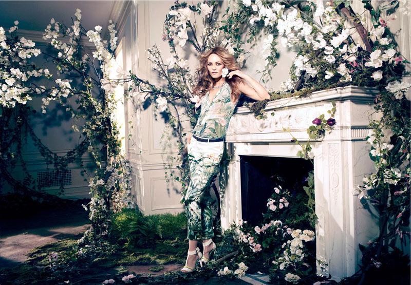 vanessa paradis hm conscious campaign6 Vanessa Paradis Enchants in H&Ms Spring 2013 Conscious Campaign by Camilla Akrans