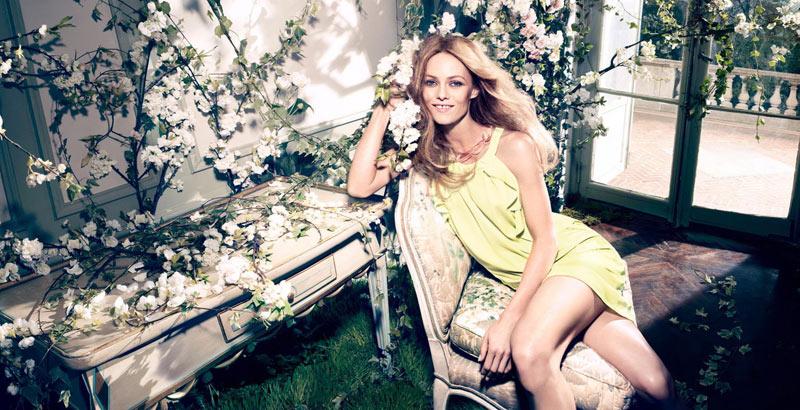 vanessa paradis hm conscious campaign7 Vanessa Paradis Enchants in H&Ms Spring 2013 Conscious Campaign by Camilla Akrans