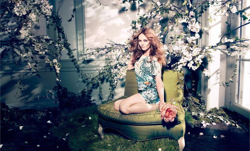 vanessa paradis hm conscious campaign8 Vanessa Paradis Enchants in H&Ms Spring 2013 Conscious Campaign by Camilla Akrans