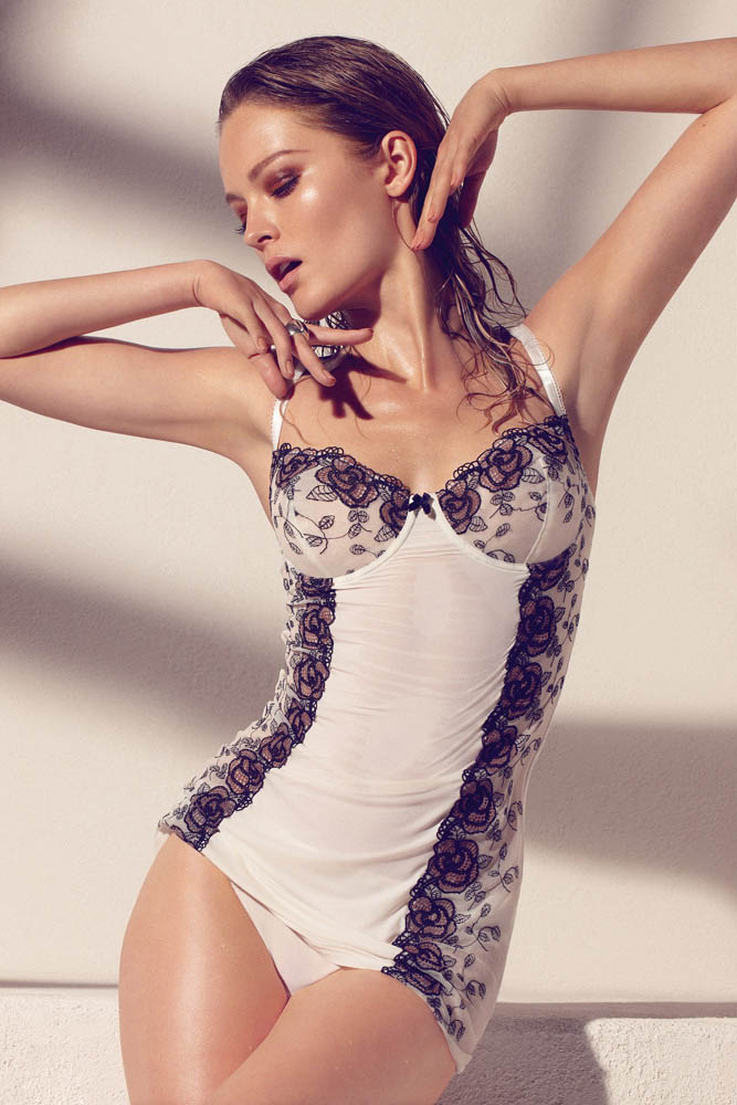 Olga Maliouk Poses for Max Abadian in Blush Lingerie's Spring 2013 Campaign