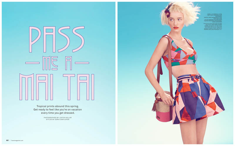 Liv O'Driscoll Gets Tropical for Foam March/April 2013 by Justin Hollar