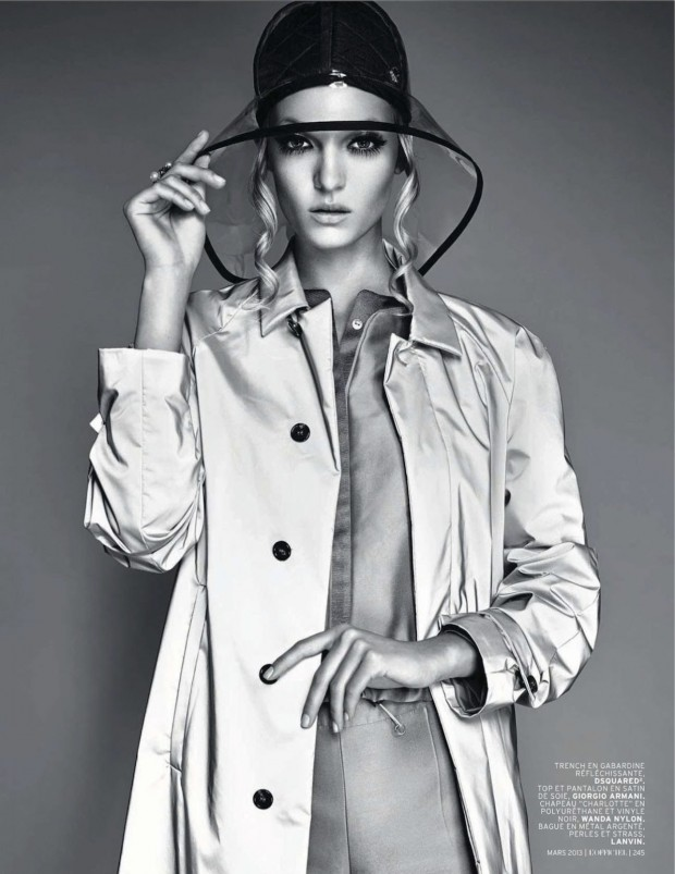 01 Theres Alexandersson Preps for Rain in LOfficiel Paris March Issue by Jonathan Segade