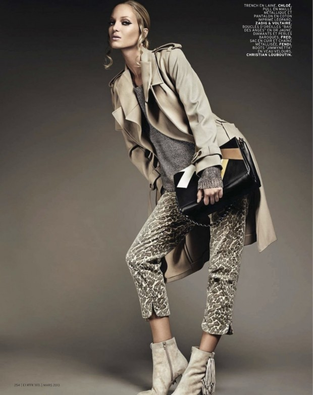 010 Theres Alexandersson Preps for Rain in LOfficiel Paris March Issue by Jonathan Segade