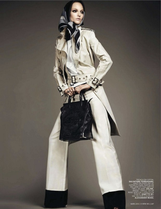 02 Theres Alexandersson Preps for Rain in LOfficiel Paris March Issue by Jonathan Segade