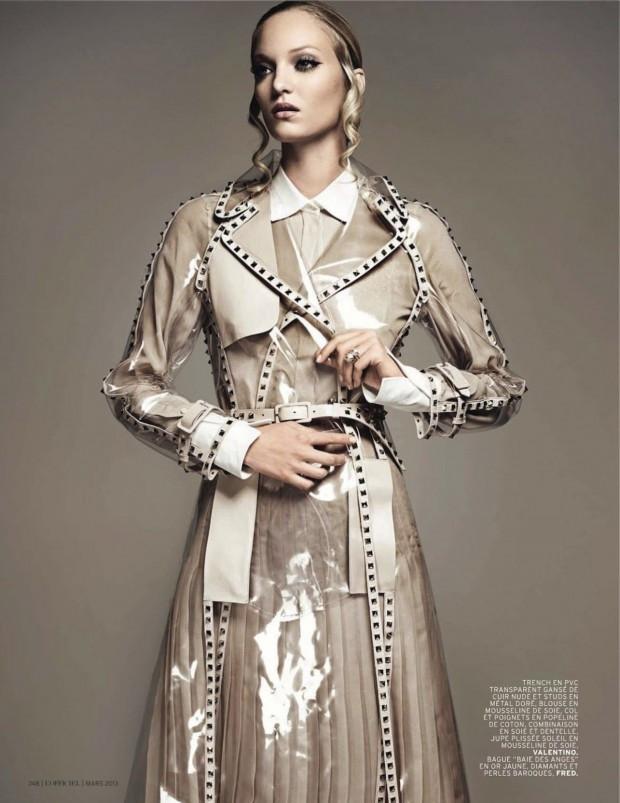 03 Theres Alexandersson Preps for Rain in LOfficiel Paris March Issue by Jonathan Segade