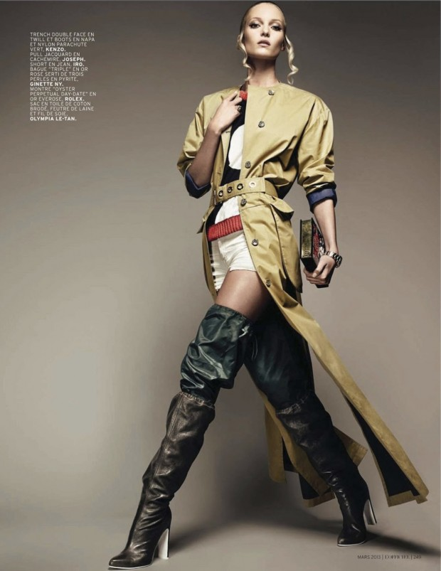 04 Theres Alexandersson Preps for Rain in LOfficiel Paris March Issue by Jonathan Segade