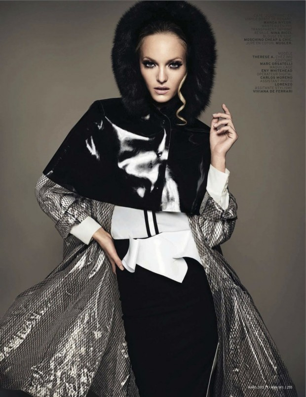 09 Theres Alexandersson Preps for Rain in LOfficiel Paris March Issue by Jonathan Segade