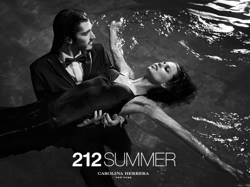 212 summer by hunterandgatti 03 Sasha Luss and Lauren Auerbach Dive in for 212 Summer Carolina Herrera Campaign by Hunter & Gatti
