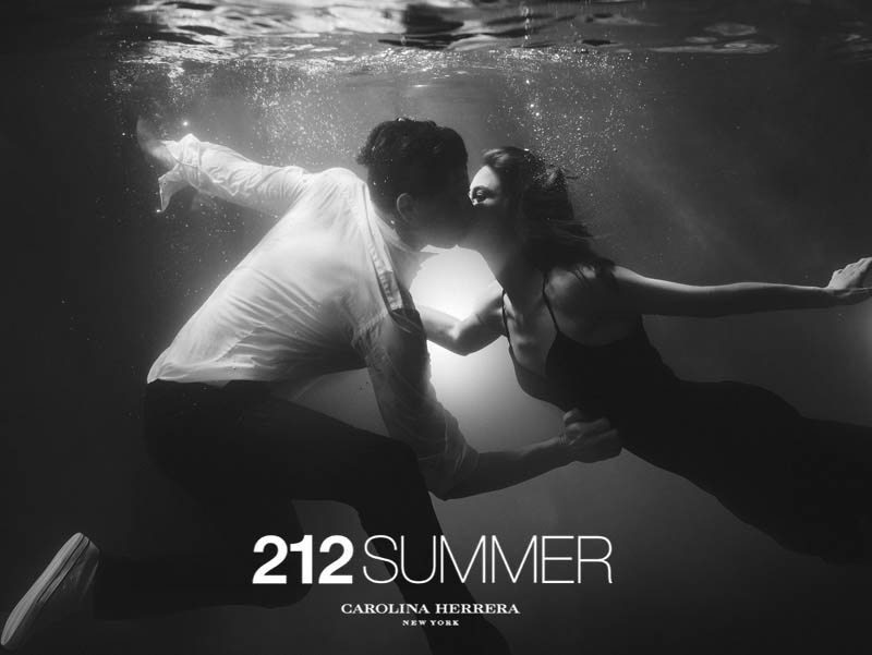 212 summer by hunterandgatti 06 Sasha Luss and Lauren Auerbach Dive in for 212 Summer Carolina Herrera Campaign by Hunter & Gatti