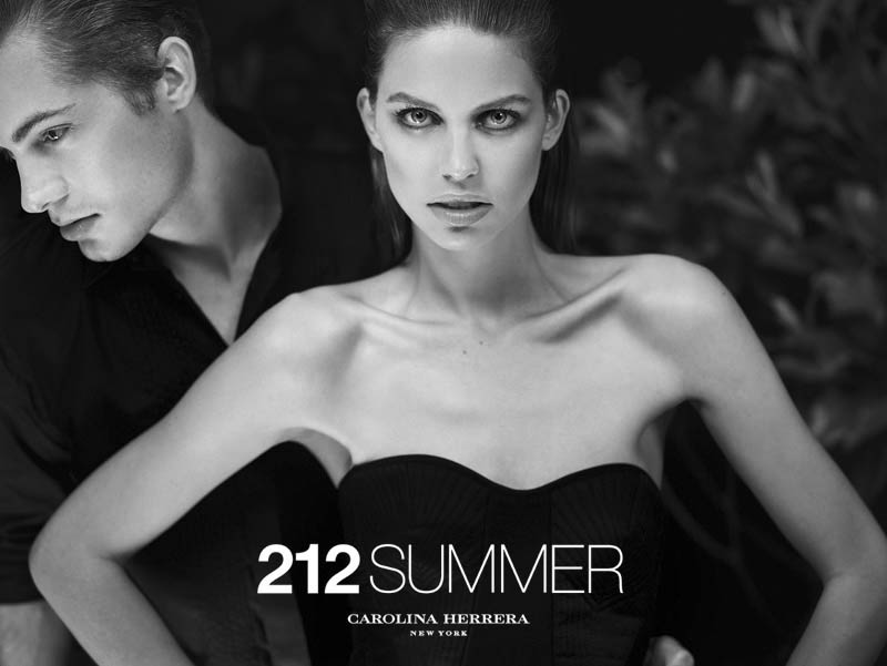 212 summer by hunterandgatti 08 Sasha Luss and Lauren Auerbach Dive in for 212 Summer Carolina Herrera Campaign by Hunter & Gatti