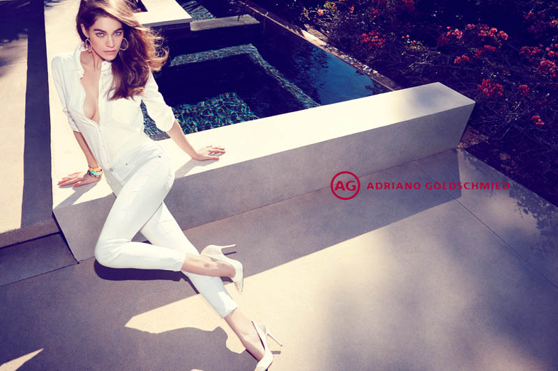 AdrianoJeansCampaign2 Samantha Gradoville Fronts AG Jeans Spring 2013 Campaign by Nagi Sakai