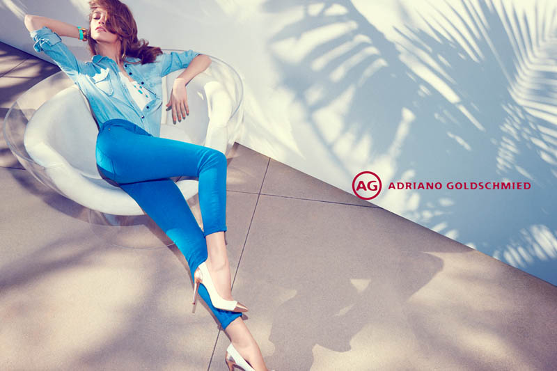 AdrianoJeansCampaign3 Samantha Gradoville Fronts AG Jeans Spring 2013 Campaign by Nagi Sakai