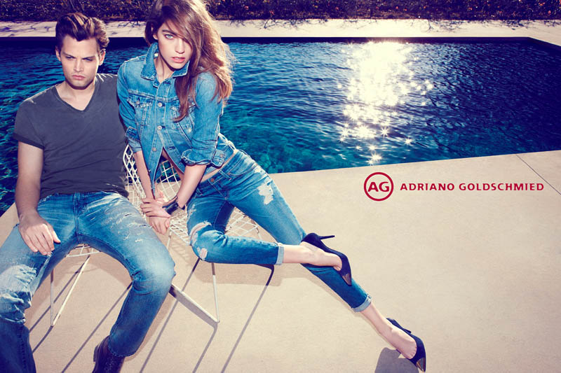 AdrianoJeansCampaign4 Samantha Gradoville Fronts AG Jeans Spring 2013 Campaign by Nagi Sakai