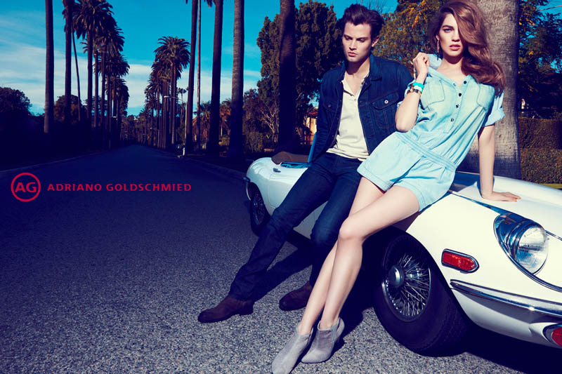 AdrianoJeansCampaign5 Samantha Gradoville Fronts AG Jeans Spring 2013 Campaign by Nagi Sakai