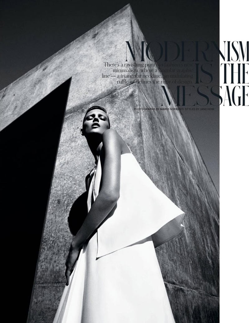 AnjaRubikTMag2 Anja Rubik Models Sleek Looks for T Magazine Spring 2013 by Mario Sorrenti