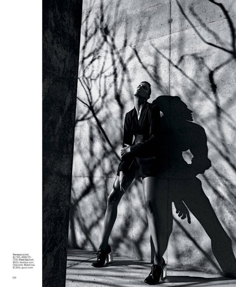 Anja Rubik Models Sleek Looks for T Magazine Spring 2013 by Mario Sorrenti