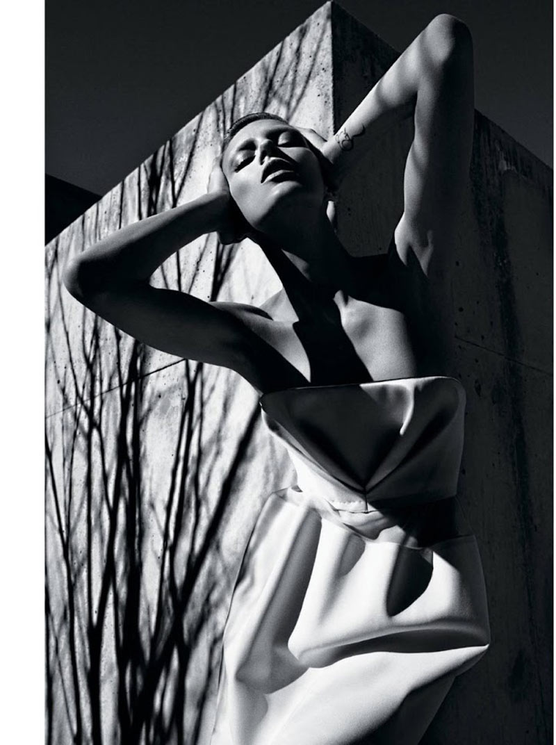 AnjaRubikTMag5 Anja Rubik Models Sleek Looks for T Magazine Spring 2013 by Mario Sorrenti
