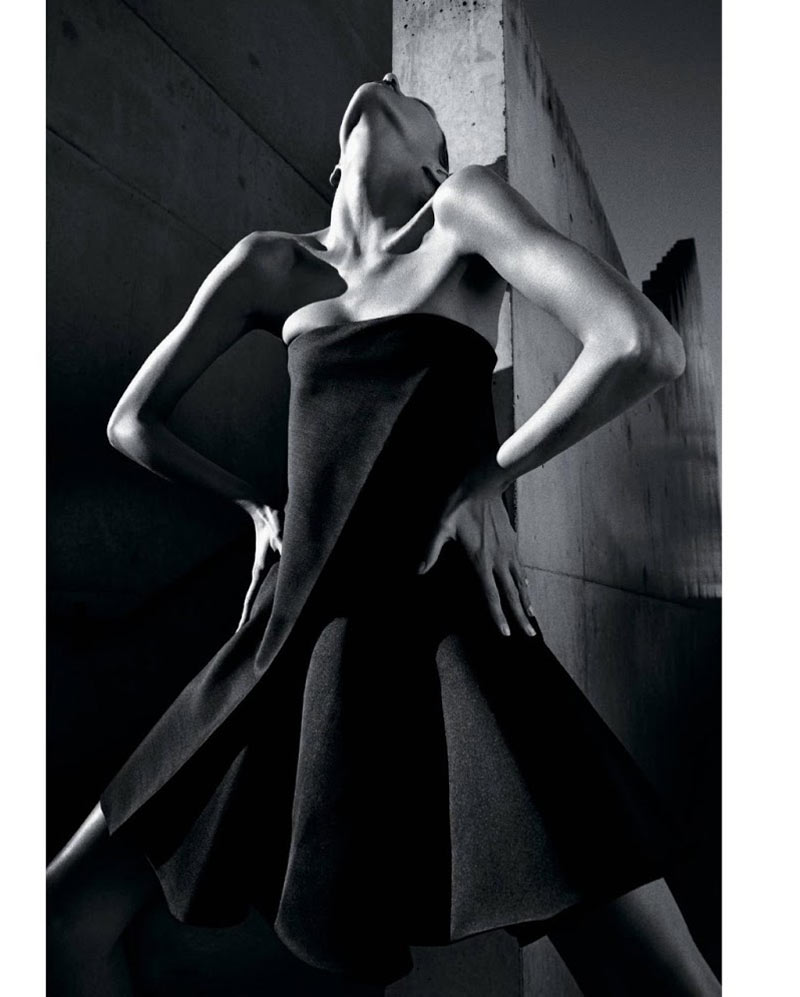 AnjaRubikTMag8 Anja Rubik Models Sleek Looks for T Magazine Spring 2013 by Mario Sorrenti