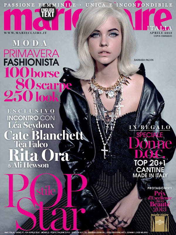 Barbara Palvin is a 'Material Girl' for Marie Claire Italia April 2013 by Jacques Olivar