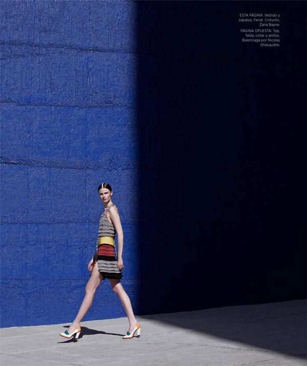 BazaarLA2 Vasilisa Pavlova Models Sleek Spring Style for Harpers Bazaar Latin America