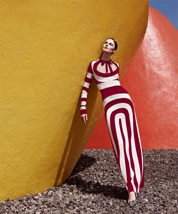 BazaarLA5 Vasilisa Pavlova Models Sleek Spring Style for Harpers Bazaar Latin America