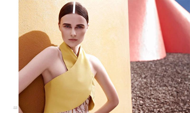 BazaarLA6 Vasilisa Pavlova Models Sleek Spring Style for Harpers Bazaar Latin America