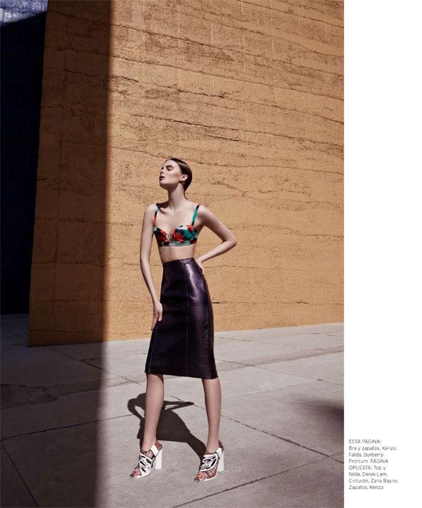 BazaarLA7 Vasilisa Pavlova Models Sleek Spring Style for Harpers Bazaar Latin America
