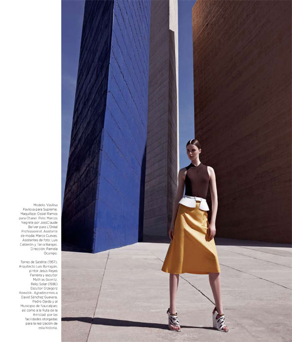 Vasilisa Pavlova Models Sleek Spring Style for Harper's Bazaar Latin America