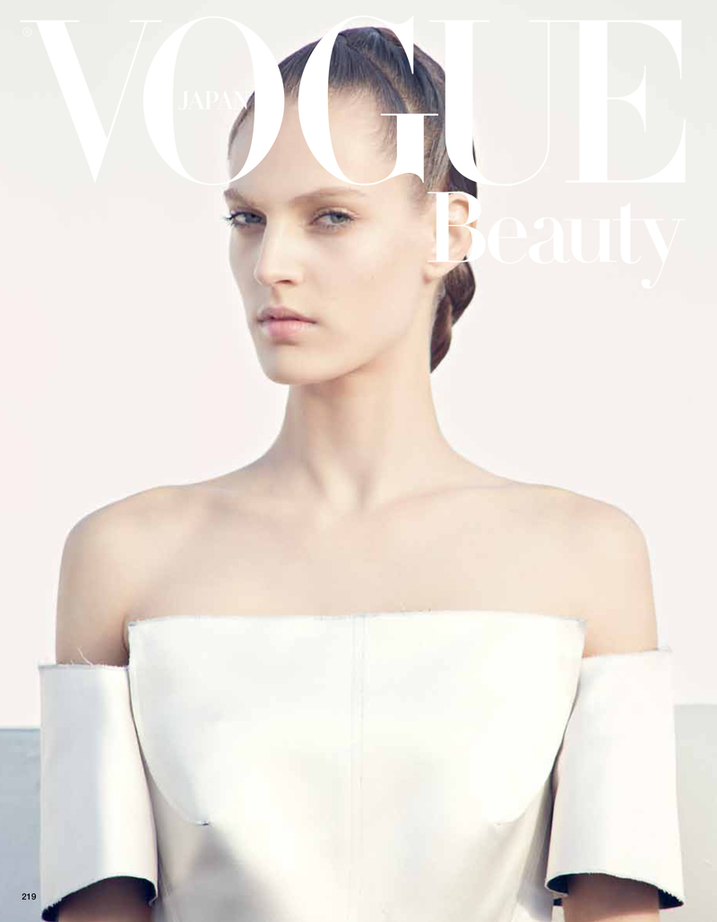 BeautyVogueJapan1 Othilia Simon Keeps it Minimal for Julia Noni in Vogue Japan May 2013