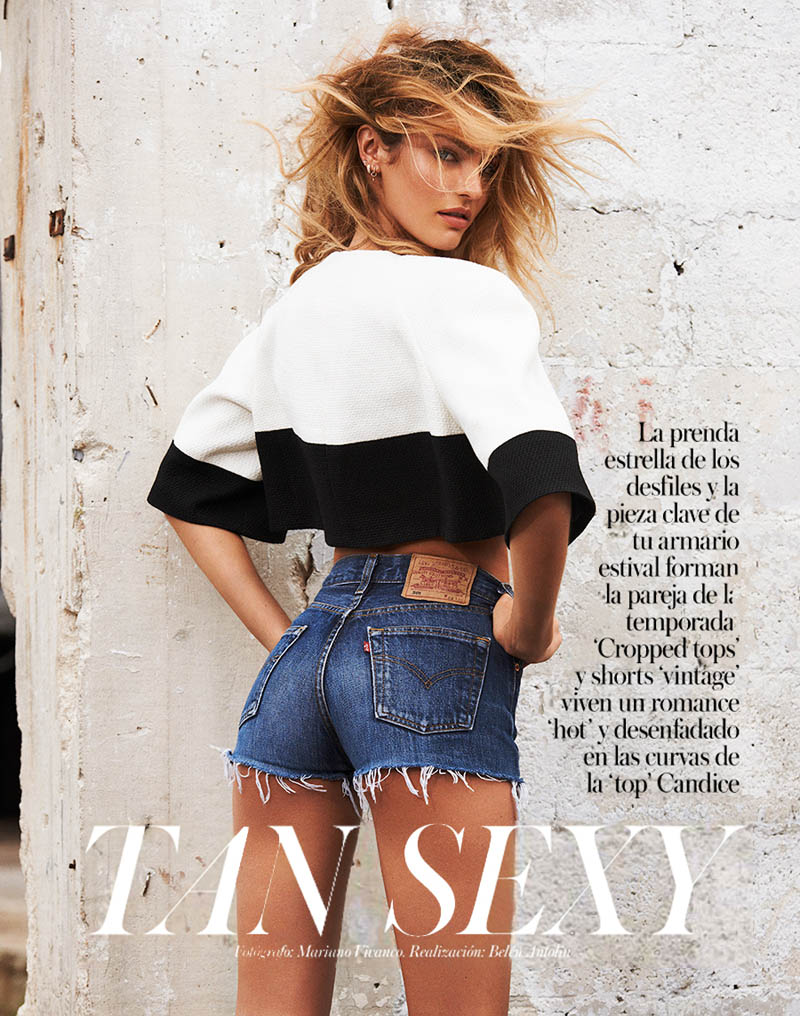 CandiceSwanepoelVogueSpain1 Candice Swanepoel is Sexy in Denim for Vogue Spain April 2013 by Mariano Vivanco
