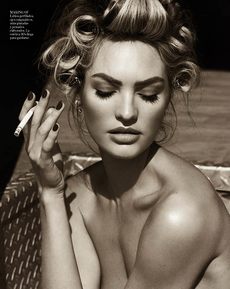 CandiceSwanepoelVogueSpain12 Candice Swanepoel is Sexy in Denim for Vogue Spain April 2013 by Mariano Vivanco