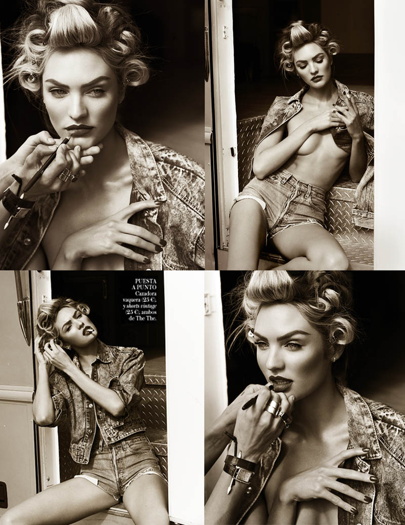 CandiceSwanepoelVogueSpain13 Candice Swanepoel is Sexy in Denim for Vogue Spain April 2013 by Mariano Vivanco