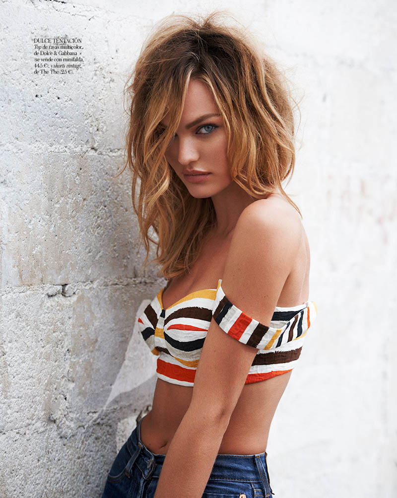 CandiceSwanepoelVogueSpain4 Candice Swanepoel is Sexy in Denim for Vogue Spain April 2013 by Mariano Vivanco