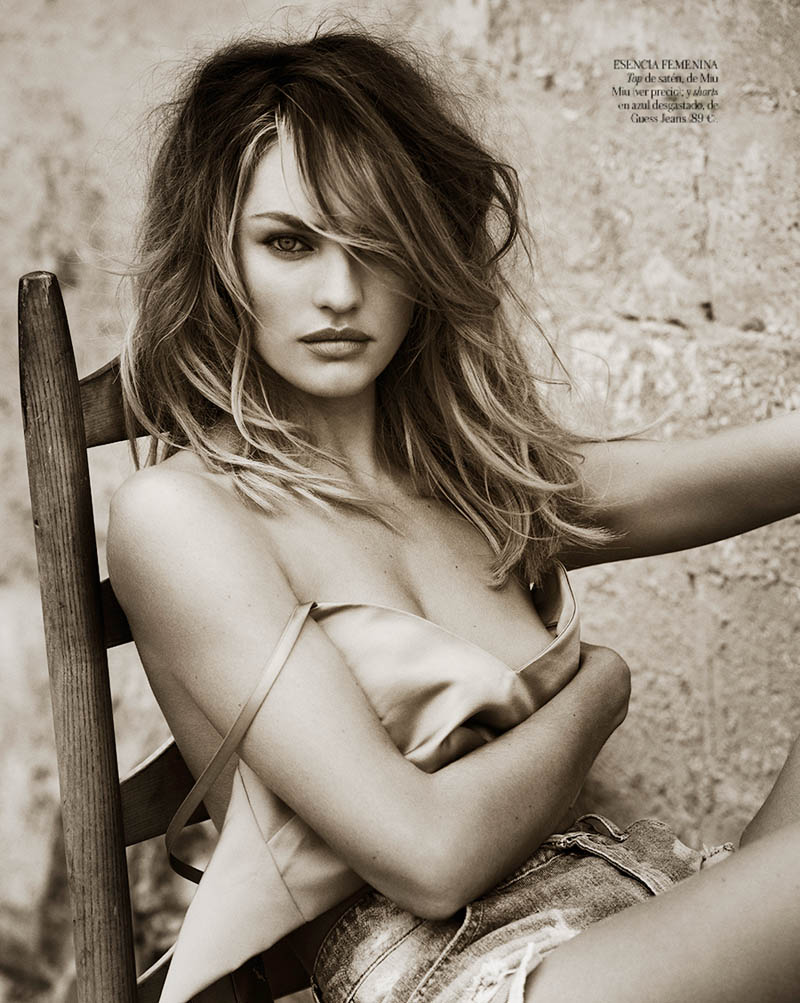 CandiceSwanepoelVogueSpain8 Candice Swanepoel is Sexy in Denim for Vogue Spain April 2013 by Mariano Vivanco