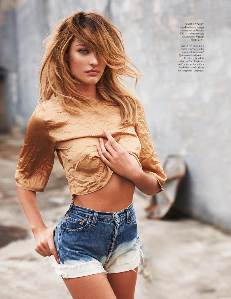 CandiceSwanepoelVogueSpain9 Candice Swanepoel is Sexy in Denim for Vogue Spain April 2013 by Mariano Vivanco