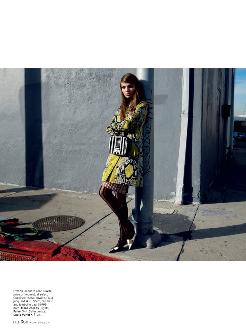 Carola Remer 3 Carola Remer is Mod Chic for Elle US April 2013 by Horst Diekgerdes