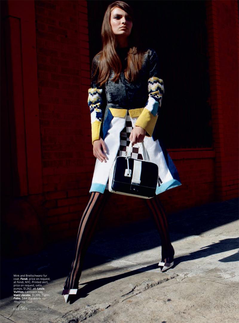 Carola Remer is Mod Chic for Elle US April 2013 by Horst Diekgerdes