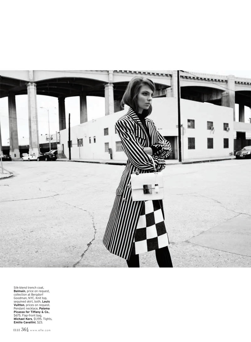 Carola Remer 6 Carola Remer is Mod Chic for Elle US April 2013 by Horst Diekgerdes