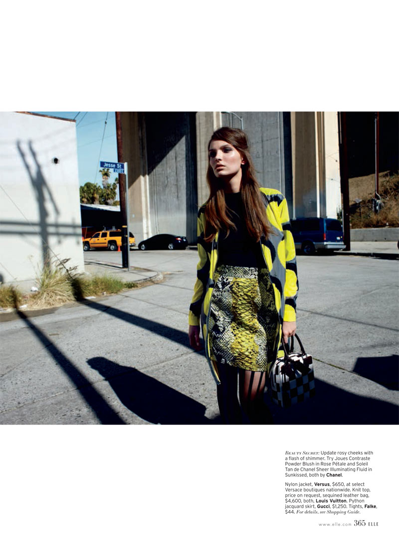Carola Remer 7 Carola Remer is Mod Chic for Elle US April 2013 by Horst Diekgerdes