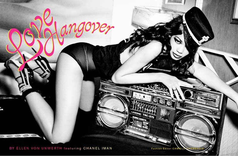 ChanelImanGalore1 Chanel Iman Smolders in Galore Magazine #2 by Ellen von Unwerth