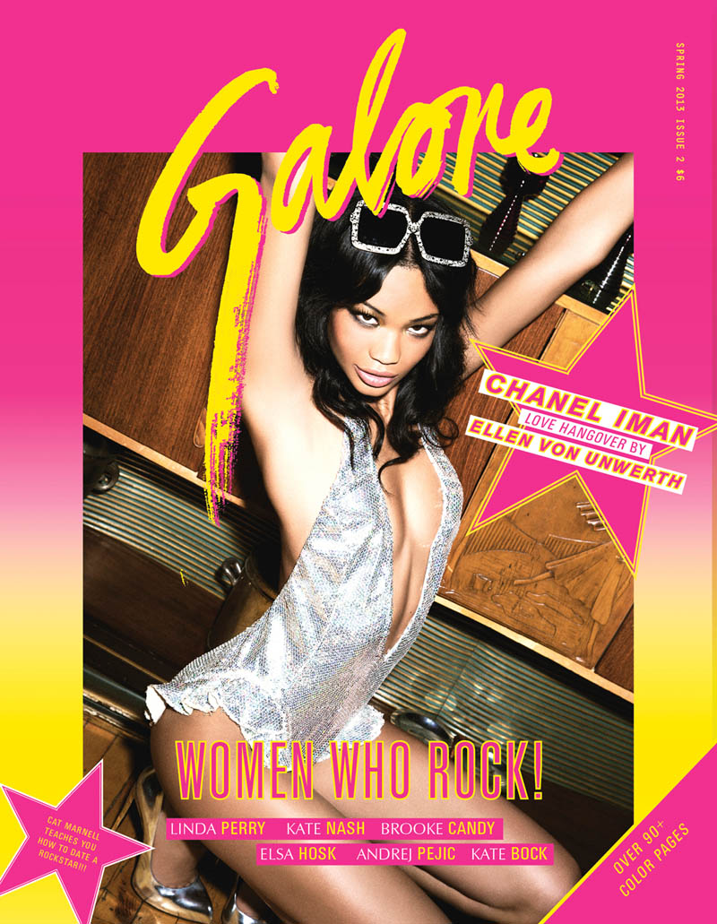 ChanelImanGalore12 Chanel Iman Smolders in Galore Magazine #2 by Ellen von Unwerth