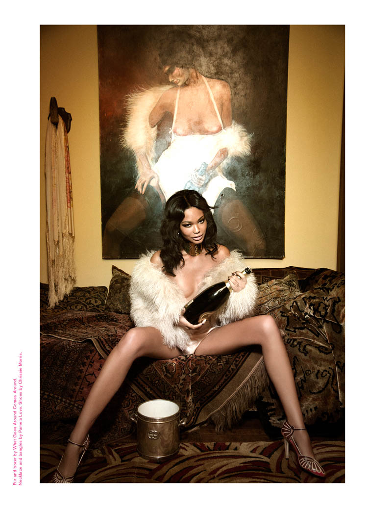 ChanelImanGalore3 Chanel Iman Smolders in Galore Magazine #2 by Ellen von Unwerth