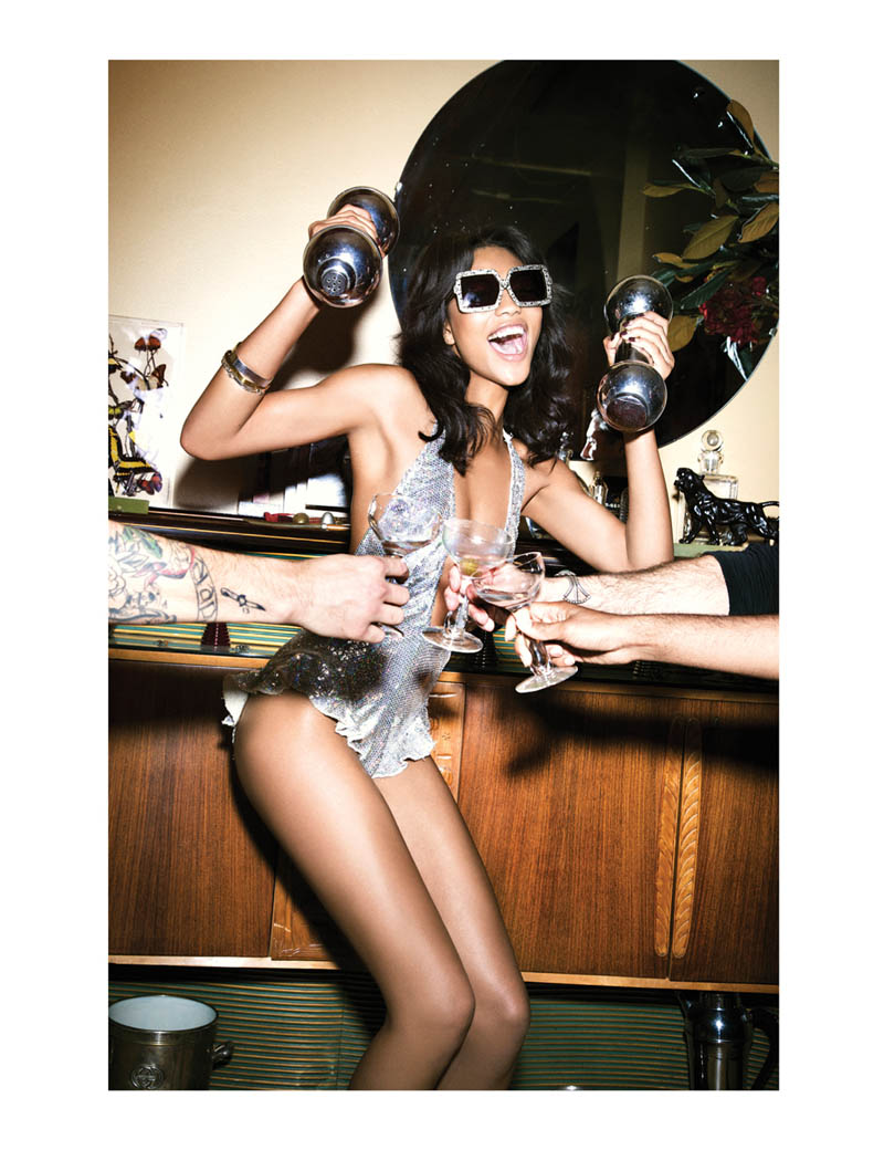 ChanelImanGalore4 Chanel Iman Smolders in Galore Magazine #2 by Ellen von Unwerth