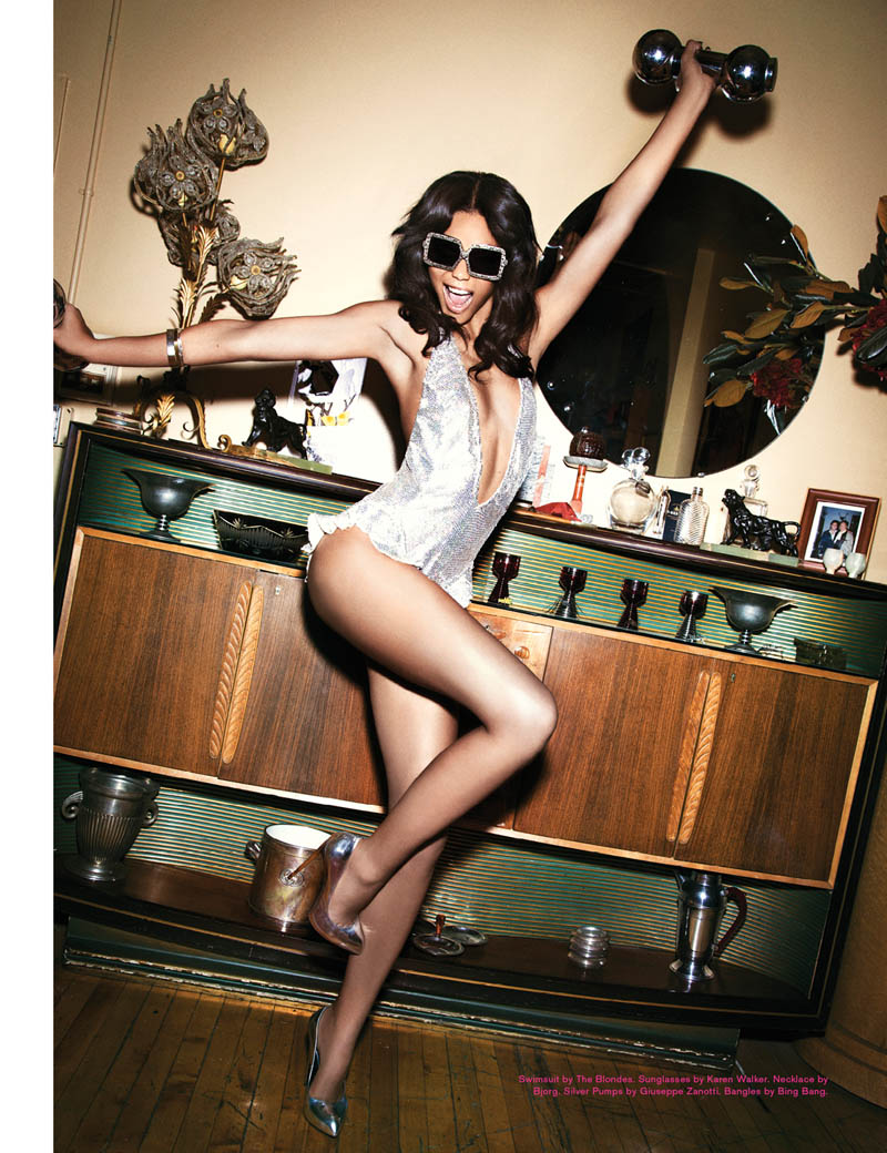 ChanelImanGalore5 Chanel Iman Smolders in Galore Magazine #2 by Ellen von Unwerth