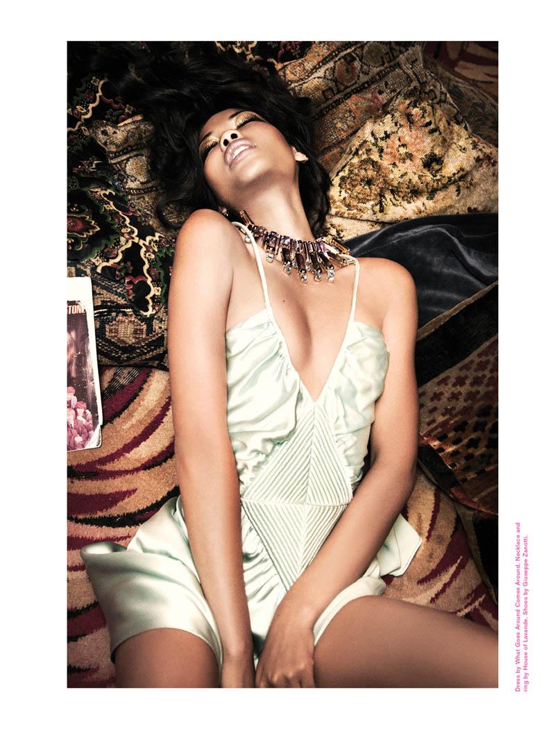 Chanel Iman Smolders in Galore Magazine #2 by Ellen von Unwerth