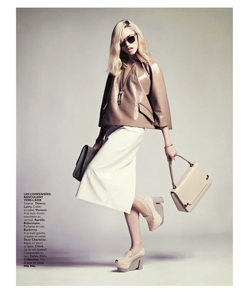 CoraKeeganGrazia15 Cora Keegan Sports Neutral Shades for Grazia France by Honer Akrawi