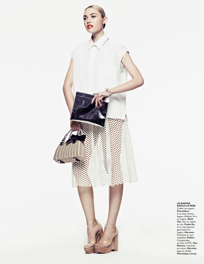 CoraKeeganGrazia16 Cora Keegan Sports Neutral Shades for Grazia France by Honer Akrawi