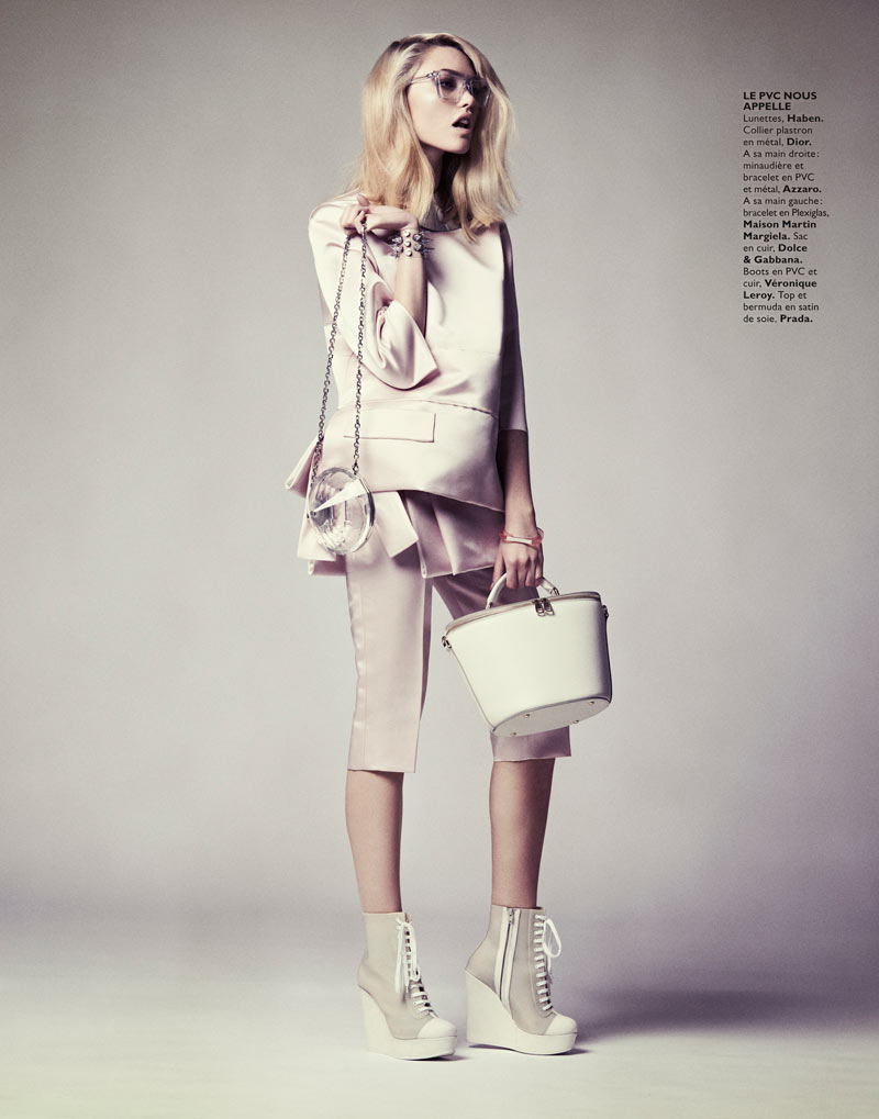 CoraKeeganGrazia5 Cora Keegan Sports Neutral Shades for Grazia France by Honer Akrawi