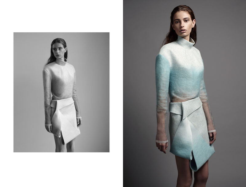 Dion Lee's Sculpted Outing for International Woolmark Competition