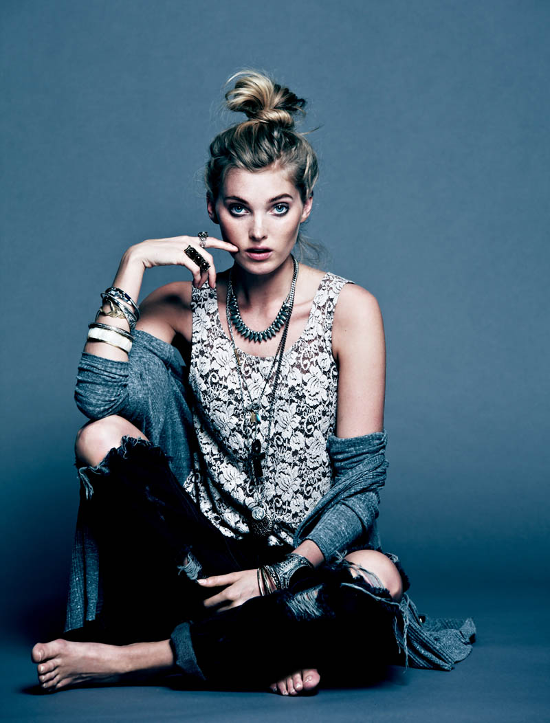Dark Rose 1 Free People Gets Dark for its March Lookbook Starring Elsa Hosk